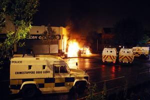 Disturbances in Ardoyne as a fourth night of rioting took place in north Belfast July 2010