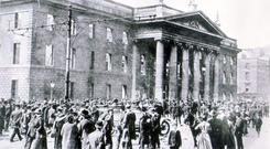 History calls: the shelled out remains of the GPO after the Easter Rising which was directed by Patrick Pearse