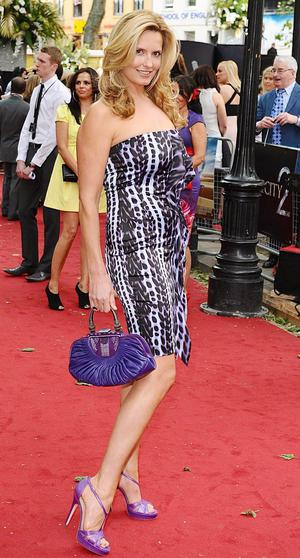 Penny Lancaster arriving for the UK premiere of Sex and the City 2 at the Odeon, Leicester Square, London.