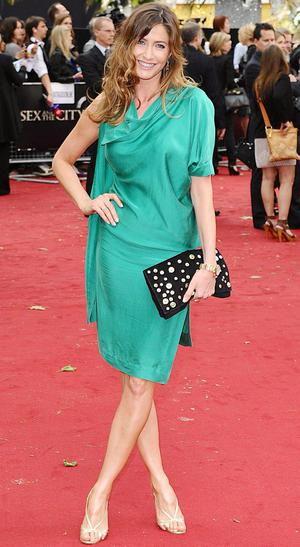 Lisa Snowdon arriving for the UK premiere of Sex and the City 2 at the Odeon, Leicester Square, London.