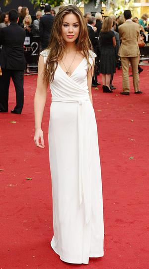 Roxanne McKee arriving for the UK premiere of Sex and the City 2 at the Odeon, Leicester Square, London.