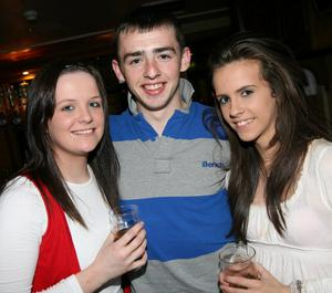 Shauntelle Moss, Ryan Ingram and Kaila McManus in the party mood in Enniskillen
