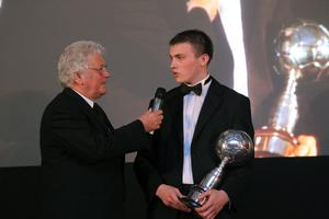 Crusaders' Stuart Dallas is interviewed by Jackie Fullerton