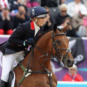 Zara Phillips is cheered by the crowds