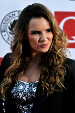Nadine Coyle arrives at the Q Awards 2010 at Grosvenor House Hotel on October 25, 2010 in London, England