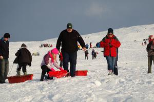 The McCauley family from Rathfriland share the snowy slopes at Spelga Pass