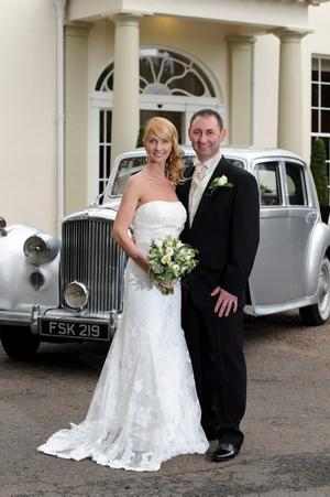 """Grace and Jason Ellery on their wedding day at Malone House. Photography by Michael Cooper <p><b>To send us your Wedding Pics <a  href=""""http://www.belfasttelegraph.co.uk/usersubmission/the-belfast-telegraph-wants-to-hear-from-you-13927437.html"""" title=""""Click here to send your pics to Belfast Telegraph"""">Click here</a> </a></p></b>"""