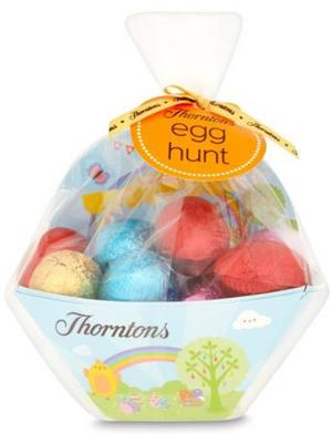 <b>Thorntons Egg Hunt Mini Eggs £5.99, thorntons.co.uk</b><br/> Hide this bumper pack of mini eggs all around the house for a few moment's peace and quiet
