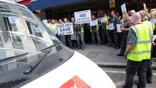Controversy: Red Sky workers protest outside the Housing Executive last year