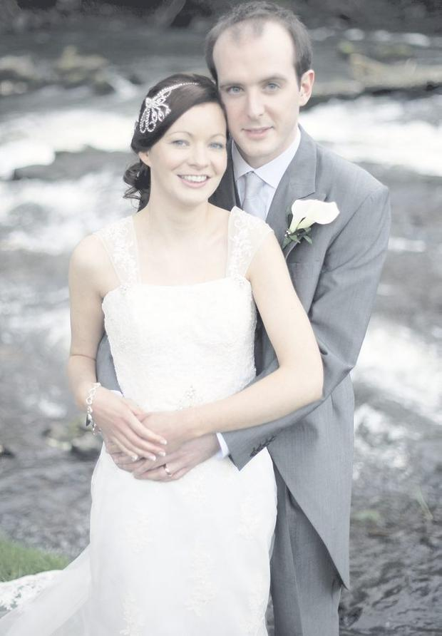 Cara Hart and Gary Woods wed last month in Caryduff