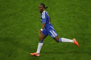 MUNICH, GERMANY - MAY 19:  Didier Drogba of Chelsea celebrates after scoring the winning penalty during UEFA Champions League Final between FC Bayern Muenchen and Chelsea at the Fussball Arena München on May 19, 2012 in Munich, Germany.  (Photo by Christof Koepsel/Bongarts/Getty Images)