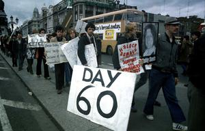 File Pics Northern Ireland Hunger Strikers 30th Anniversary.DAY 60 DURING THE H BLOCK RALLY ON DUBLIN'S O CONNELL ST DURING THE BOBBY SANDS HUNGER STRIKE. 1981 PIC PHOTOCALL IRELAND
