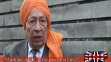 Rajinder Singh, who has appeared on the BNP's internet TV channel, blames Muslims for the death of his father during the Partition of India in 1947