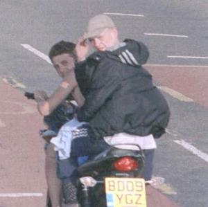 Sam Giess and Lewis Farmer, who received driving bans after repeatedly triggering a speed camera on a stolen motorbike
