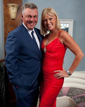 Darren Clarke with his wife Alison Campbell
