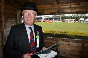 Balmoral Show 2010. Billy Rolston who will receive an MBA next month from the Queen for contribution to sport working at the showjumping