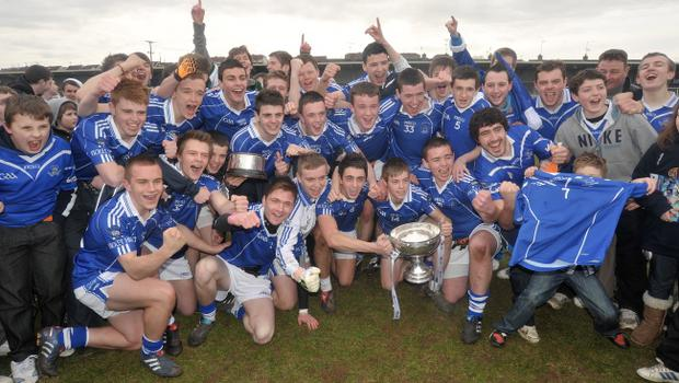 MacRory Cup final: The St Colman's, Newry team celebrate after winning the MacRory Cup  at the Athletic Grounds, Armagh