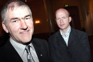 Mickey Harte (left) and Peter Canavan are in opposition tonight