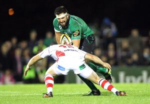 Magners League 25/9/2010Connacht vs UlsterConnacht's Jamie Hagan and Darren Cave of UlsterMandatory Credit ©PRESSEYE / INPHO/James Crombie