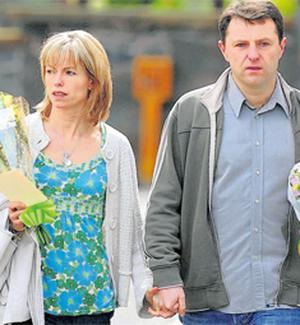 Kate and Gerry McCann attending a church service