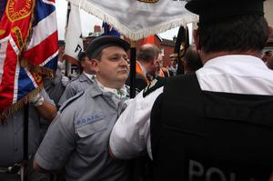 The annual Tour of the North Orange Order parade, Belfast, June 2011