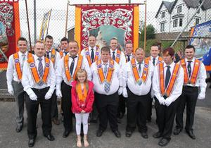 LOL No 943 before they head to the main celebration in Rathfriland. 12 July 2011