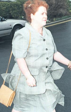 Lynn Sheridan appearing before a professional misconduct hearing in 1996