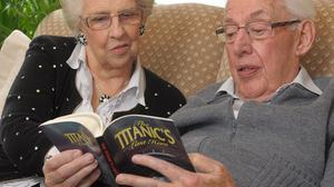 Ian Paisley relaxes with his wife Eileen at their home in Belfast (Harrison Photography)