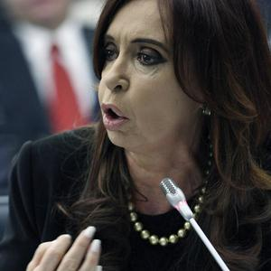 Argentine President Cristina Fernandez de Kirchner is pressing her country's claim to the Falkland Islands (AP Photo)