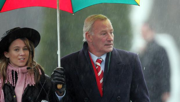 Terry Neill at George Best's funeral