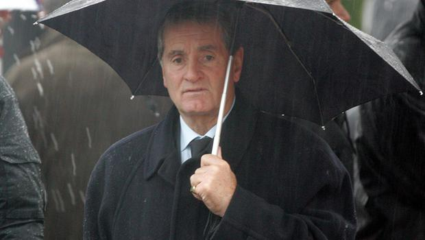 Frank McLintock at George Best's funeral