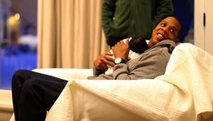"In this undated image released by Beyonce.com, rapper Jay-Z holds his daughter with singer-wife Beyonce Knowles, Blue Ivy in a recent family photo. Photos of the 1-month-old were posted by her parents on Tumblr blog page http://helloblueivycarter.tumblr.com. A hand-written note accompanying the photos reads, ""We welcome you to share our joy.""  (AP Photo/Ed Burke for Beyonce.com) MANDATORY CREDIT"