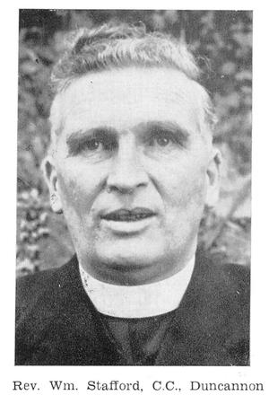 The curate, Fr William Stafford (c. 1961), who launched the boycott on 12 May 1957 in Poulfur Church.