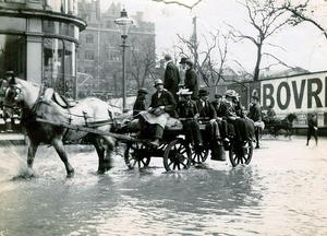 The photos  show flooding in Belfast in 1903 in Donegall Square.   Submitted by Kevin Ryan