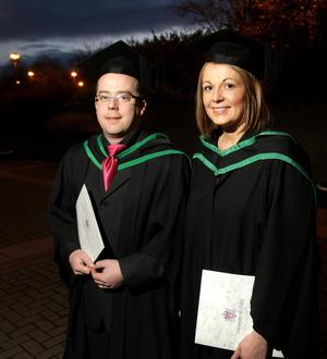 13.12.10. Picture by David Fitzgerald. Graduations yesterday from the University of Ulster in Jordanstown. Brian Corr and Ciara McElvanna who both studied Specialist Nursing Practice