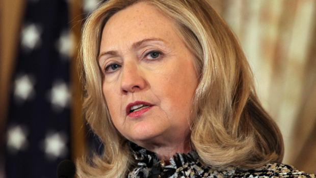 With the Middle East in relentless turmoil this is no time for a novelty act novice like Donald Trump. But while we fear change, in that adolescent country across the Atlantic they crave it. Above: Hillary Clinton (file photo)