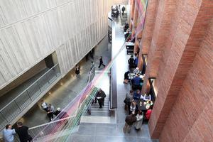The new MAC building in St Anne's Square in Belfast opens its doors to the public.  The art and theatre space is free entry and has a number of exhibitions and  theatres