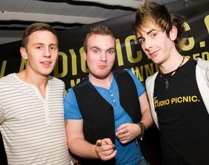Shane Todd, Micky Bartlett and Rocky Arcade at the Audiopicnic Comedy Night in The Roost