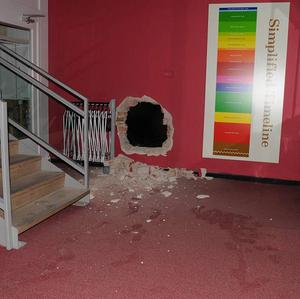The scene of a robbery at Durham's Oriental Museum