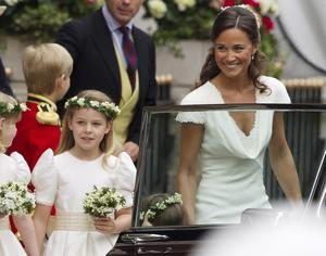 Maid of Honour Pippa Middleton and bridesmaid Margarita Armstrong-Jones arrive for the Royal Wedding of Prince William to Catherine Middleton on April 29, 2011 in London