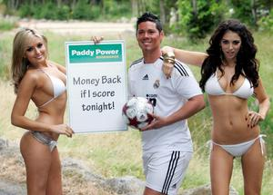 The UK's top Ronaldo look-alike, Jamie Wright was joined in Tallaght   by Nadia Forde and Georgia Salpa