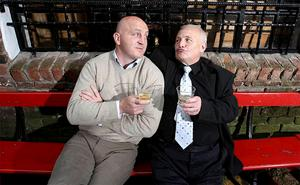 Rugby legend Keith Wood (left) with Billy Graham of Belfast, one of the stars of the new Bushmills ads