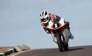 William Dunlop during Tuesday's 125 practice session at the Relentless North West 200