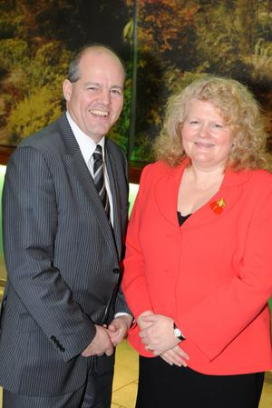 Michele Shirlow (Food NI), Graham Furey (Chairman Food NI)