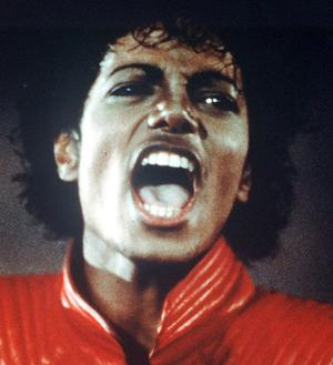 Michael Jackson in his ground-breaking Thriller video.