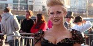 27.04.12. PICTURE BY DAVID FITZGERALD.Stars took the Red Carpet at the Titanic Go Awards last night at the Titanic Building, Belfast. Holly Sweeney