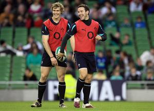 Andrew Trimble and Paddy Wallace are both in Declan Kidney's Ireland side