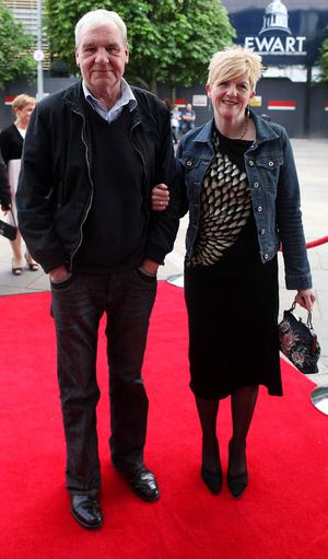 10.06.12. PICTURE BY DAVID FITZGERALDThe opening of the Belfast Film Festival at the Waterfront Hall, Belfast last night. Terri Hooley and Clare Archibald