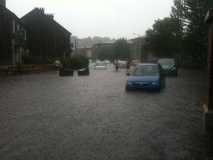 View from Cutters towards the boat club in Stranmillis. Photo by Stephen McCamley June 2012