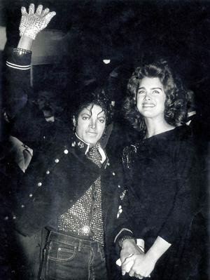 Michael Jackson and Brooke Shields arrive at the Picture Show in New York,United States of America.